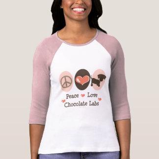 Peace Love Chocolate Labs Raglan Tee