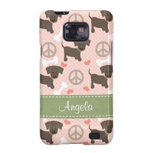 Peace Love Chocolate Labs Samsung Galaxy S Case
