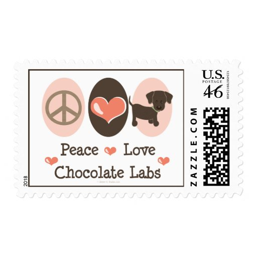 Peace Love Chocolate Labs Stamps