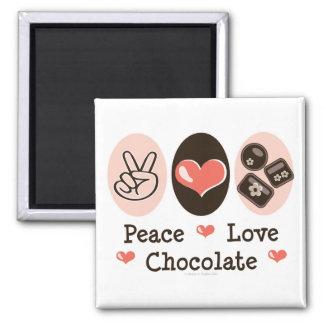 Peace Love Chocolate Magnet