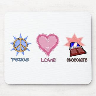 Peace Love & Chocolate Mouse Pad