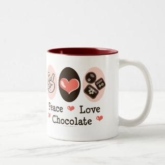 Peace Love Chocolate Mug