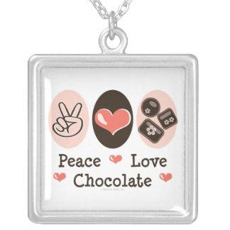 Peace Love Chocolate Necklace