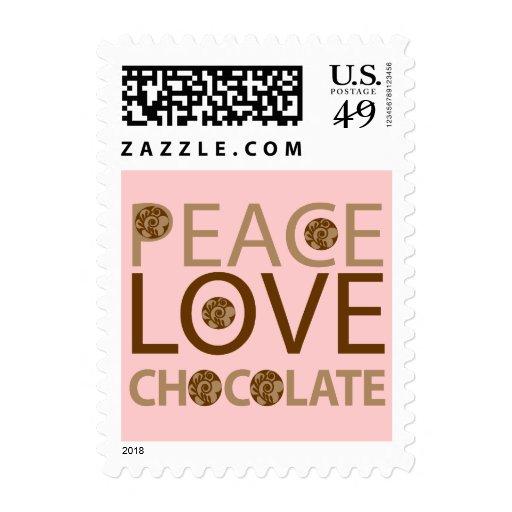 Peace Love Chocolate Stamp