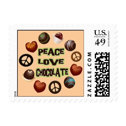 Peace Love Chocolate Stamps