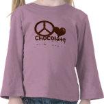 Peace Love Chocolate Tee Shirts