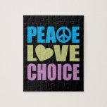 Peace Love Choice Jigsaw Puzzles