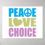 Peace Love Choice Print
