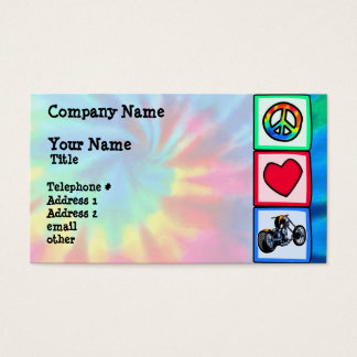 Peace, Love, Choppers Business Card
