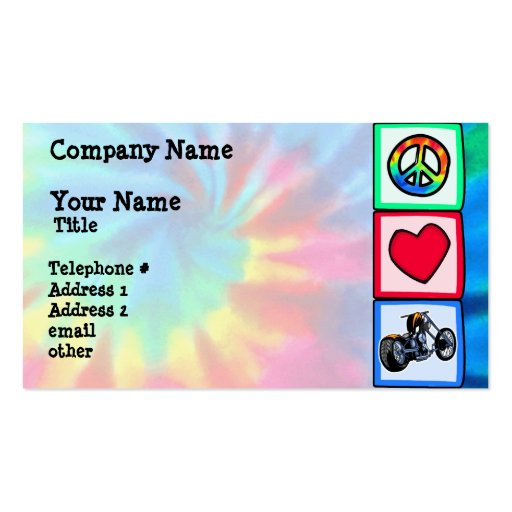 Peace, Love, Choppers Business Card Templates