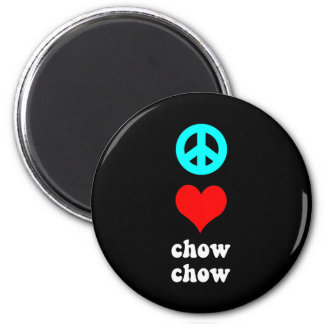 Peace love Chow Chow 2 Inch Round Magnet