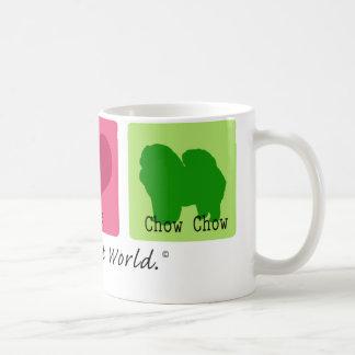 Peace Love Chow Chow Classic White Coffee Mug