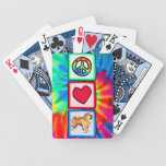 Peace, Love, Chow Chows Bicycle Playing Cards