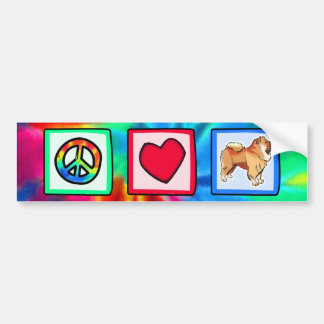 Peace, Love, Chow Chows Bumper Stickers