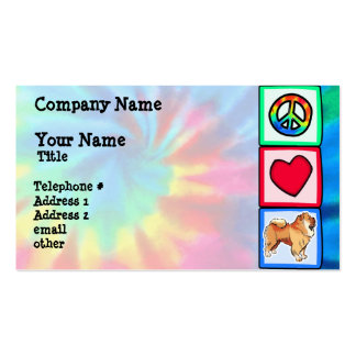 Peace, Love, Chow Chows Business Cards