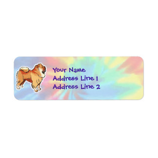 Peace, Love, Chow Chows Return Address Labels