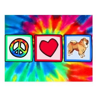 Peace, Love, Chow Chows Postcard