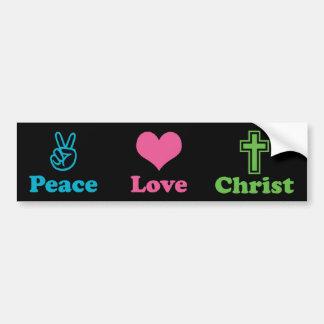 Peace Love Christ 2 Bumper Sticker