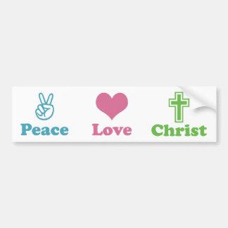 Peace Love Christ Car Bumper Sticker