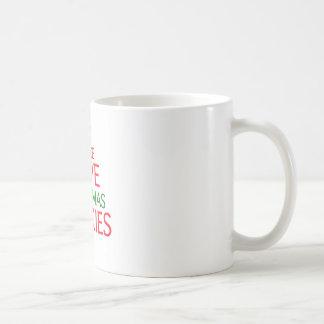 Peace Love Christmas Cookies Coffee Mug