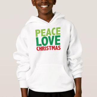 Peace Love Christmas Holiday Design Hoodie
