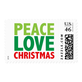 Peace Love Christmas Holiday Design Stamp