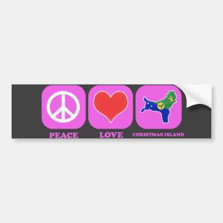 Peace Love Christmas Island Bumper Sticker