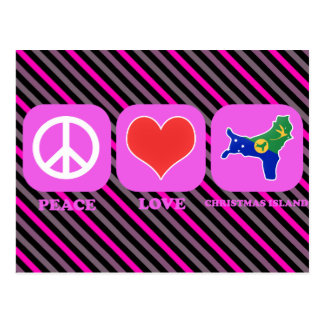 Peace Love Christmas Island Postcard