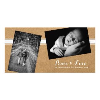 Peace & Love - Christmas Strewn Photos Paper Belt Card
