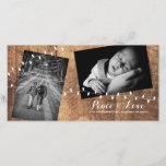 "Peace Love Christmas Strewn Photos Wood Lights Holiday Card<br><div class=""desc"">A sweet and stylish christmas wishes photo postcard. Add your photo,  customize,  and make it your own.  From the string of elegantly draped lights,  to the fun tilt of the photographs,  this Christmas card is just the way to greet this season - and all your friends and family!</div>"