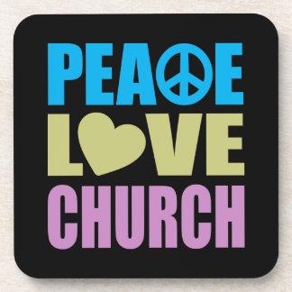 Peace Love Church Coaster