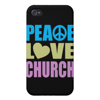 Peace Love Church Cover For iPhone 4