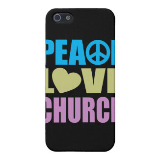Peace Love Church Covers For iPhone 5