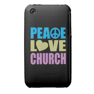 Peace Love Church iPhone 3 Covers
