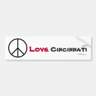 Peace Love Cincinnati Bumper Sticker