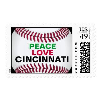 Peace Love Cincinnati Custom Postage Stamps