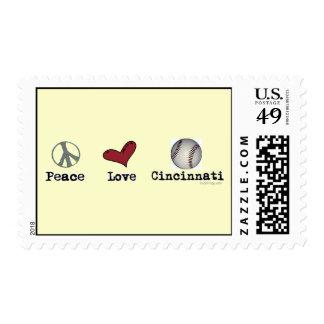 Peace Love Cincinnati Postage