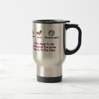 Peace Love Cincinnati Stainless Steel Travel Mug