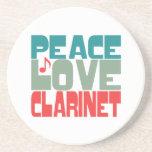 Peace Love Clarinet Coaster
