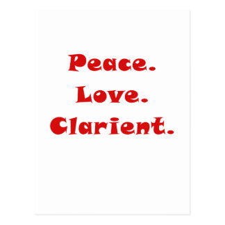 Peace Love Clarinet Post Cards