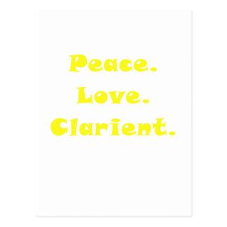 Peace Love Clarinet Postcards
