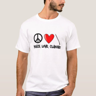 Peace, Love, Clarinet T-Shirt