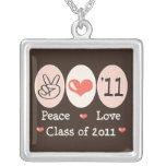 Peace Love Class of 2011 Necklace