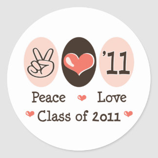 Peace Love Class of 2011 Stickers
