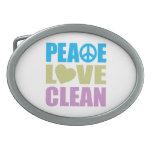 Peace Love Clean Belt Buckle