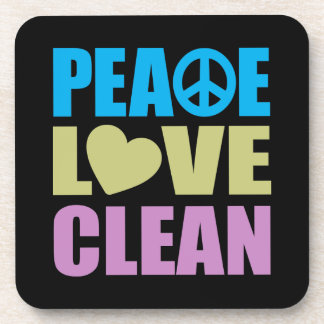 Peace Love Clean Beverage Coaster