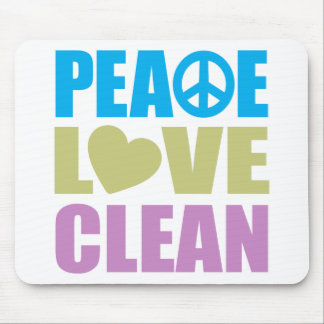 Peace Love Clean Mouse Pad