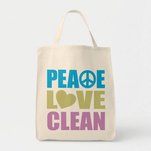 Peace Love Clean Tote Bag