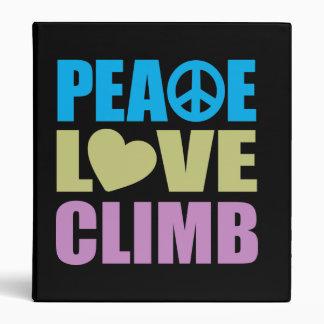 Peace Love Climb 3 Ring Binder
