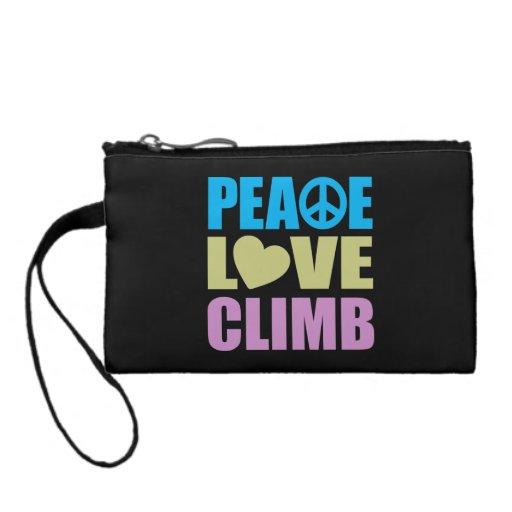 Peace Love Climb Change Purses
